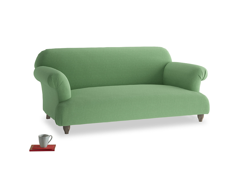 Medium Soufflé Sofa in Clean green Brushed Cotton