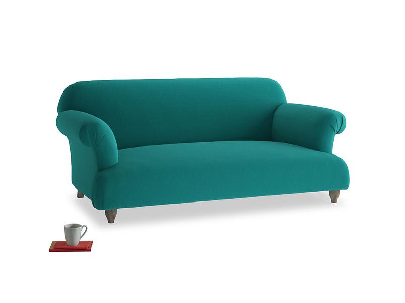 Medium Soufflé Sofa in Indian green Brushed Cotton