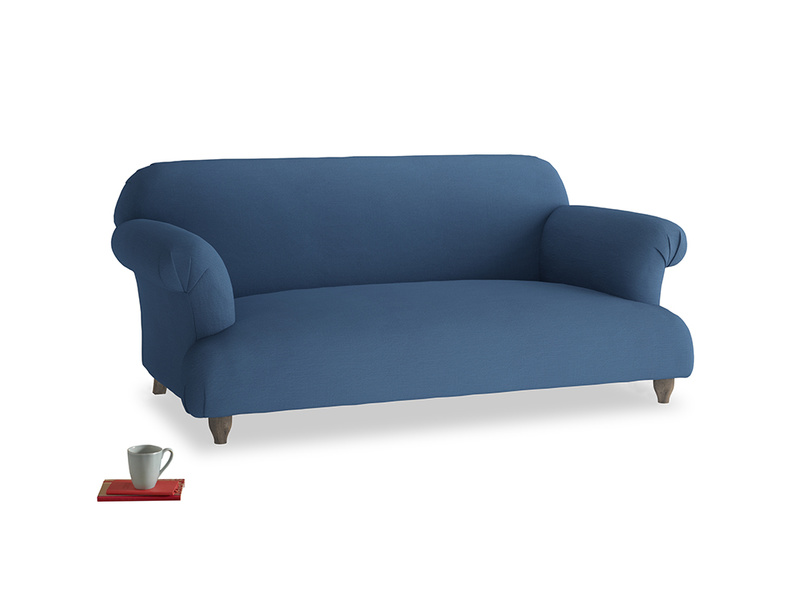 Medium Soufflé Sofa in True blue Clever Linen