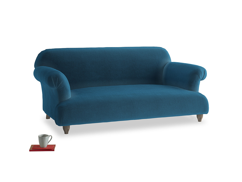 Medium Soufflé Sofa in Twilight blue Clever Deep Velvet