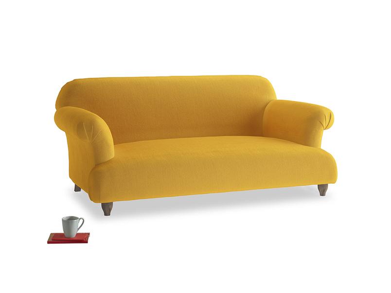 Medium Soufflé Sofa in Pollen Clever Deep Velvet
