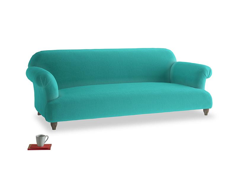 Large Soufflé Sofa in Fiji Clever Velvet