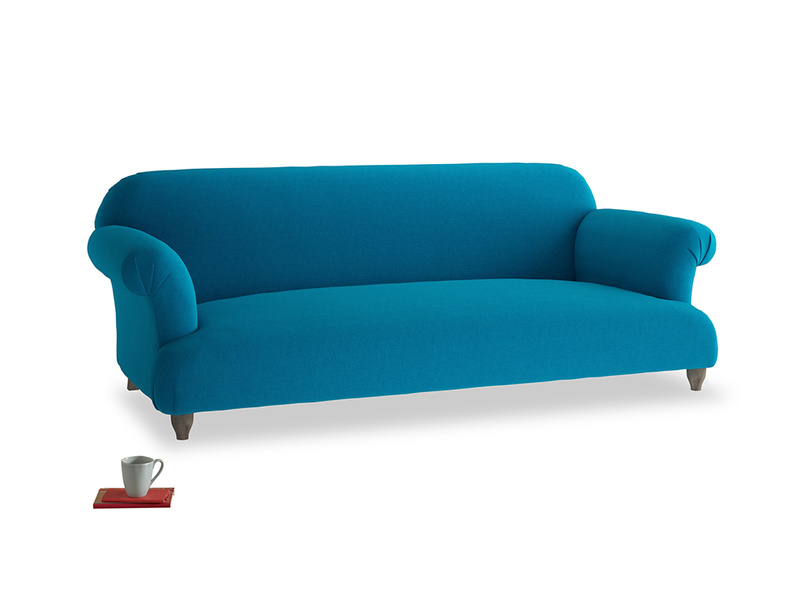 Large Soufflé Sofa in Bermuda Brushed Cotton