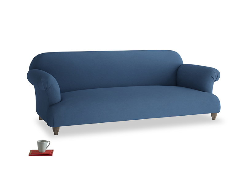 Large Soufflé Sofa in True blue Clever Linen
