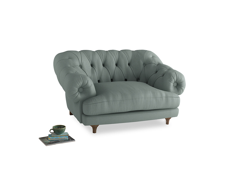 Bagsie Love Seat in Sea fog Clever Woolly Fabric