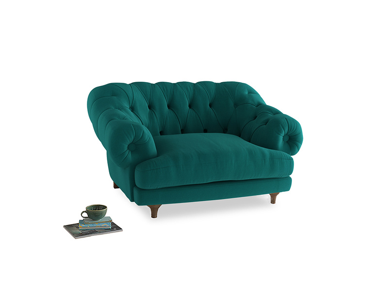 Bagsie Love Seat in Indian green Brushed Cotton
