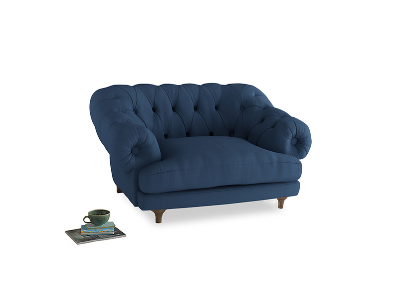 Bagsie Love Seat in True blue Clever Linen