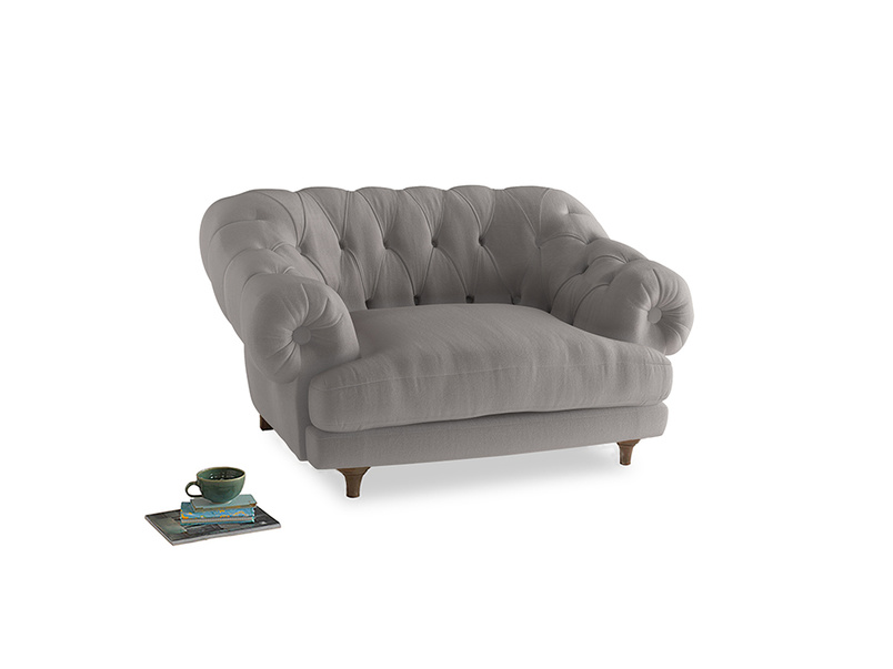 Bagsie Love Seat in Mouse grey Clever Deep Velvet