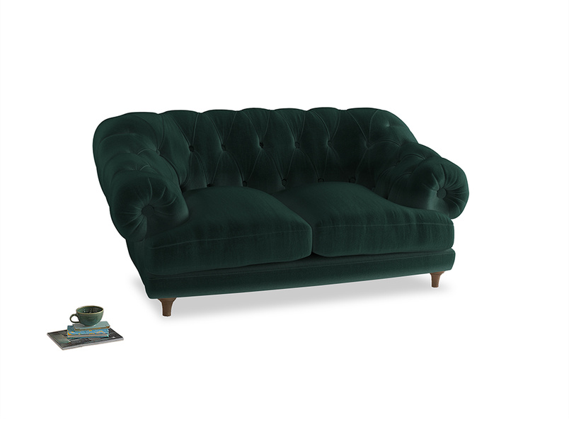 Small Bagsie Sofa in Dark green Clever Velvet