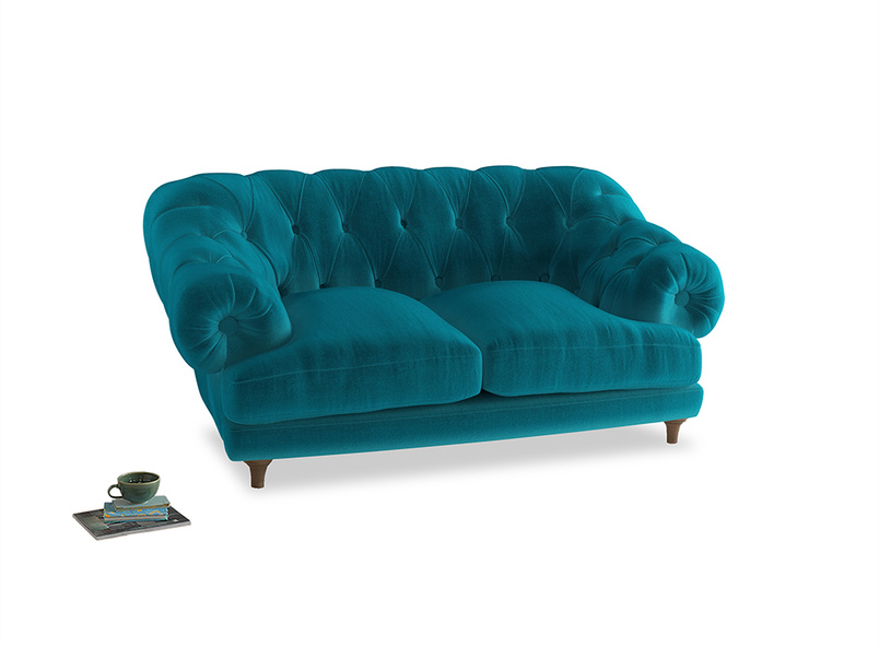 Small Bagsie Sofa in Pacific Clever Velvet
