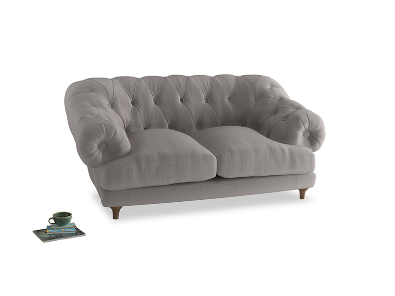 Small Bagsie Sofa in Mouse grey Clever Deep Velvet