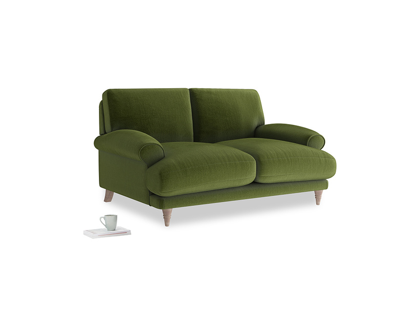 Small Slowcoach Sofa in Good green Clever Deep Velvet