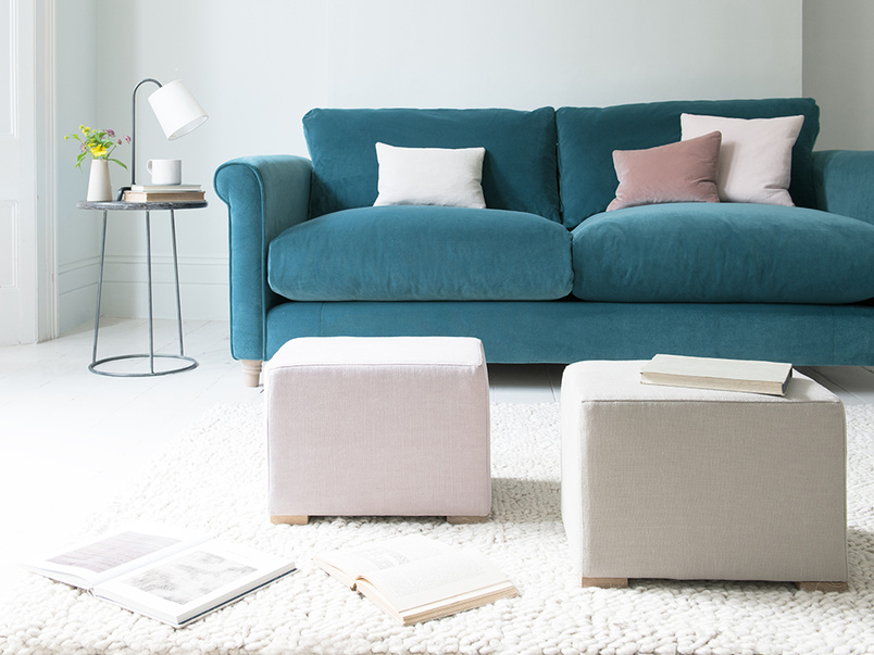 Pow Wow upholstered mini footstool