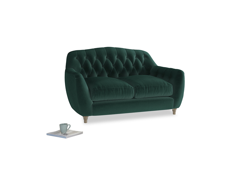 Small Butterbump Sofa in Dark green Clever Velvet