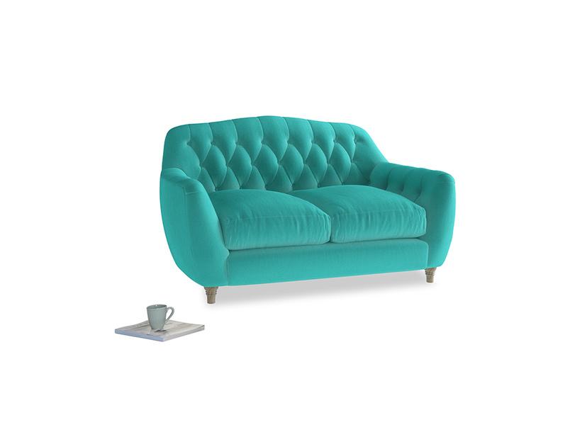 Small Butterbump Sofa in Fiji Clever Velvet