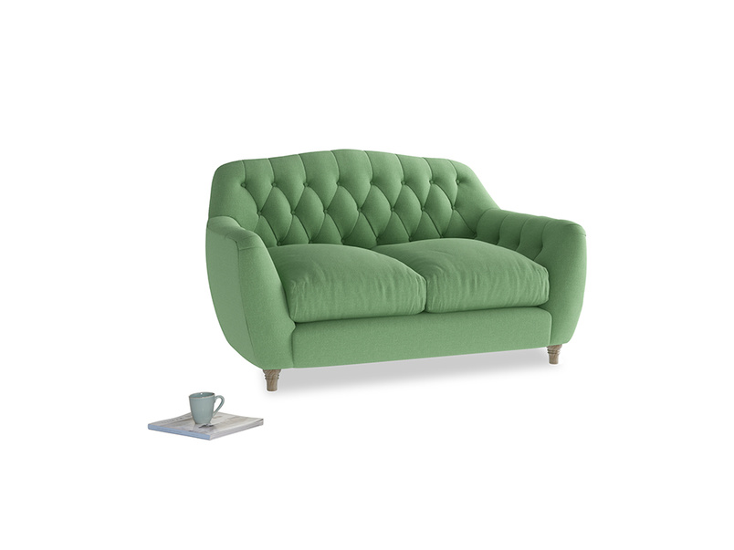 Small Butterbump Sofa in Clean green Brushed Cotton