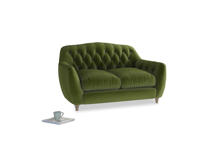 Small Butterbump Sofa in Good green Clever Deep Velvet