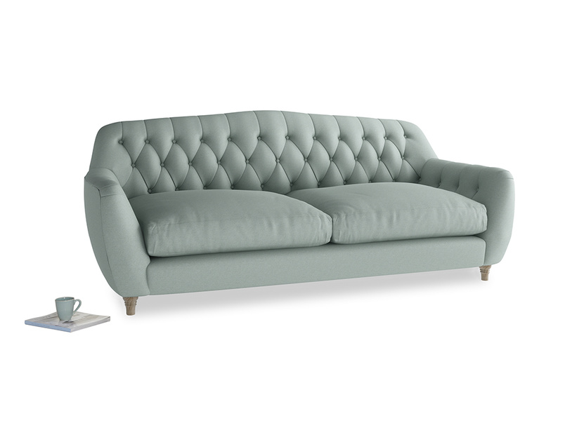 Large Butterbump Sofa in Sea fog Clever Woolly Fabric