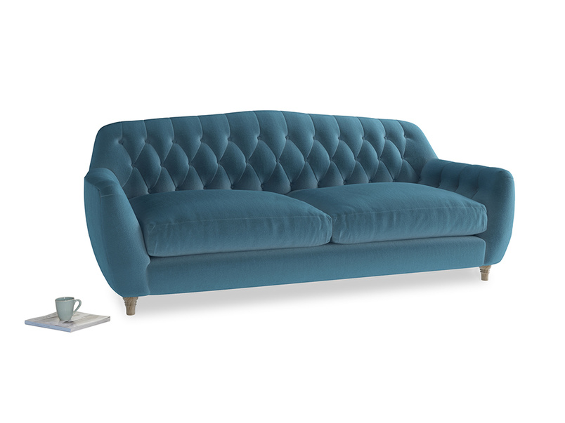 Large Butterbump Sofa in Old blue Clever Deep Velvet