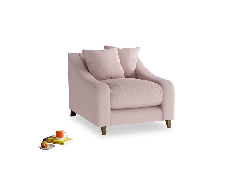 Oscar Armchair in Potter's pink Clever Linen