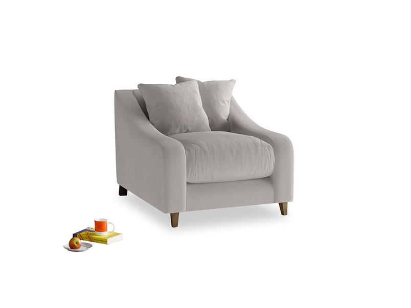 Oscar Armchair in Mouse grey Clever Deep Velvet