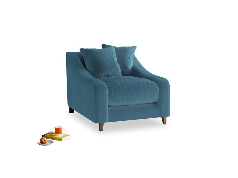 Oscar Armchair in Old blue Clever Deep Velvet