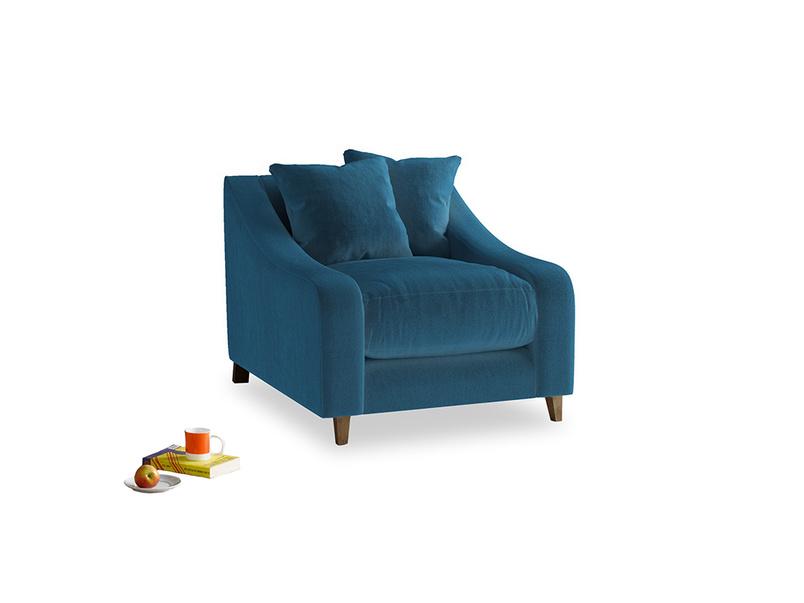 Oscar Armchair in Twilight blue Clever Deep Velvet