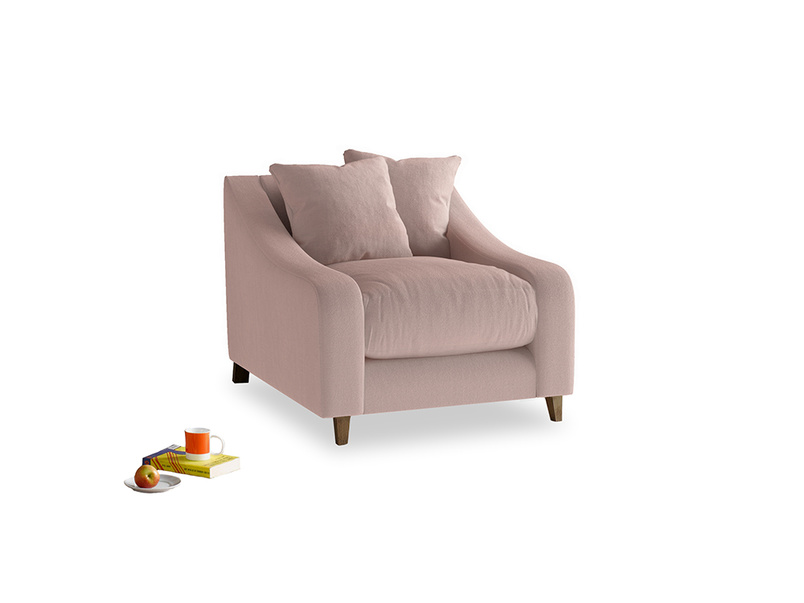 Oscar Armchair in Rose quartz Clever Deep Velvet