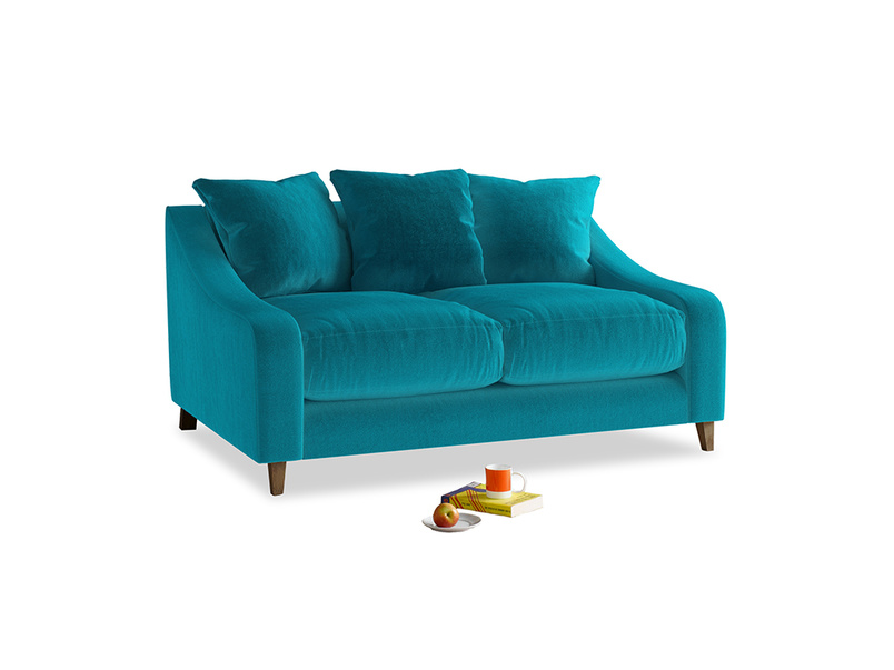 Small Oscar Sofa in Pacific Clever Velvet