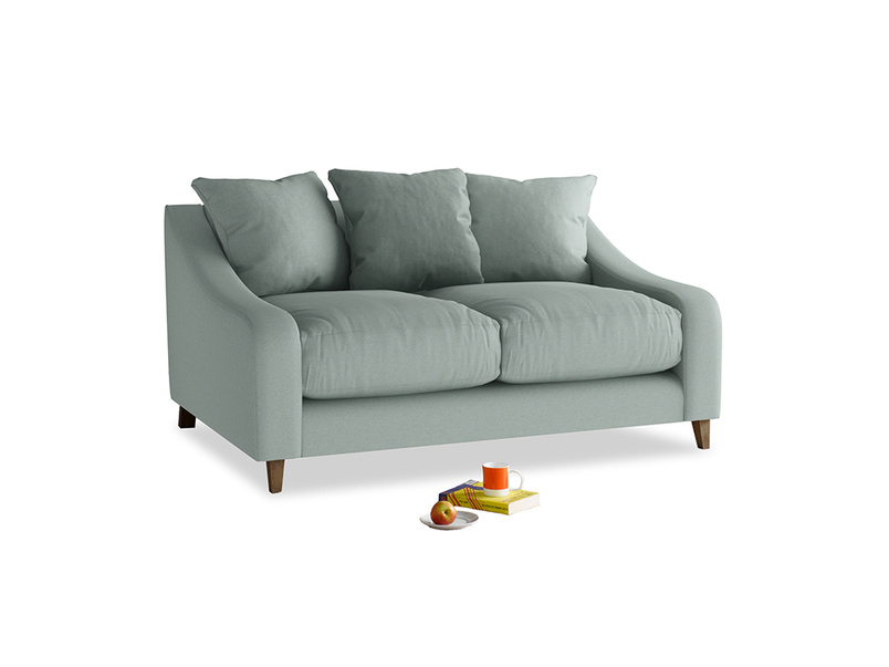 Small Oscar Sofa in Sea fog Clever Woolly Fabric