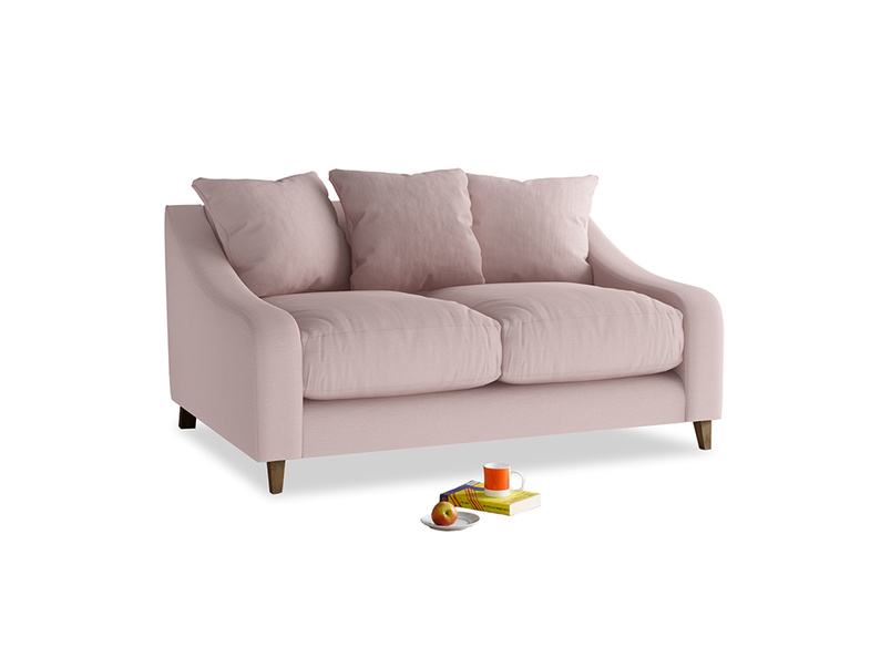Small Oscar Sofa in Potter's pink Clever Linen