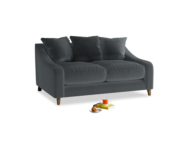 Small Oscar Sofa in Dark grey Clever Deep Velvet