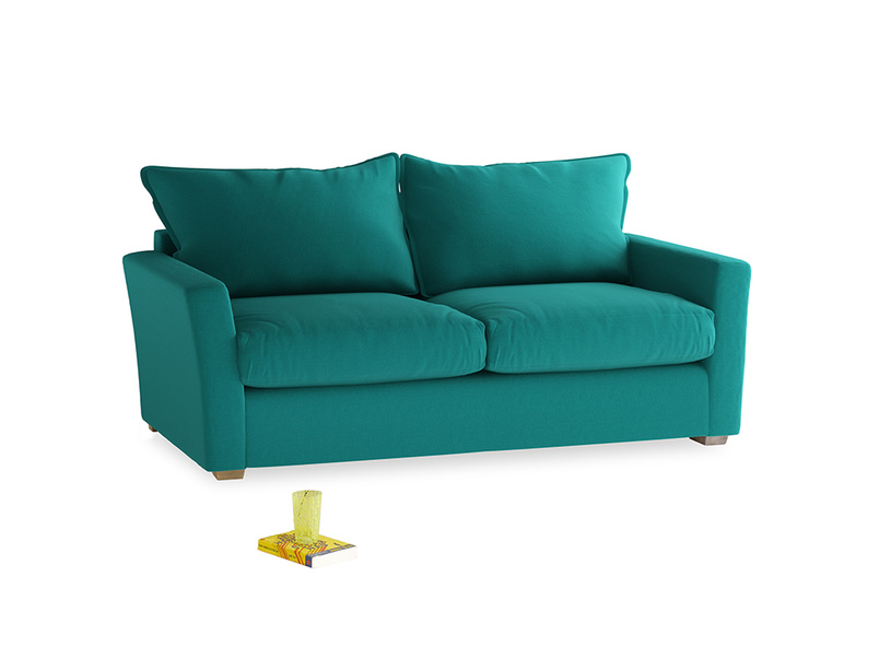 Medium Pavilion Sofa in Indian Green Brushed Cotton