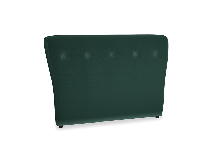 Double Smoke Headboard in Dark green Clever Velvet