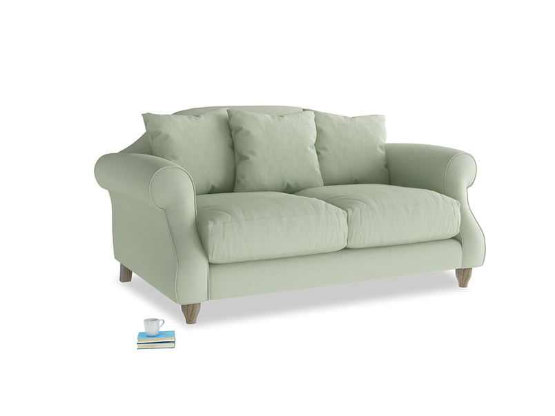 Small Sloucher Sofa in Powder green Clever Linen