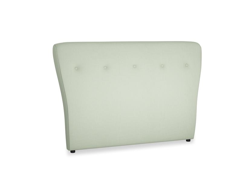 Double Smoke Headboard in Powder green Clever Linen