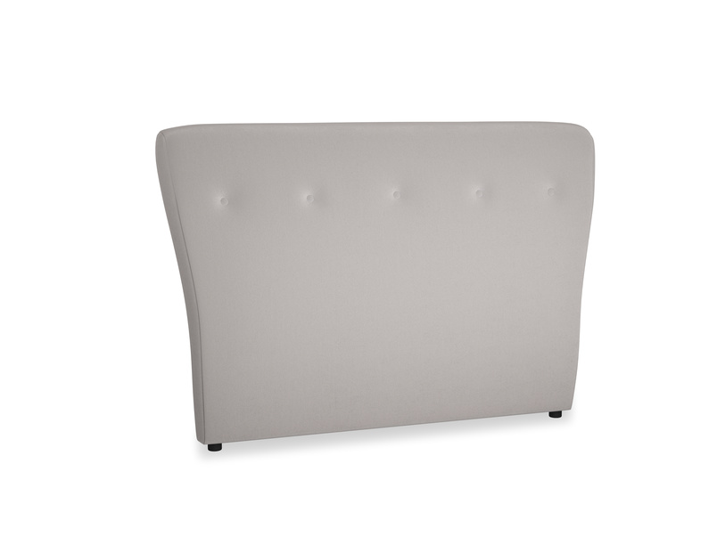 Double Smoke Headboard in Mouse grey Clever Deep Velvet
