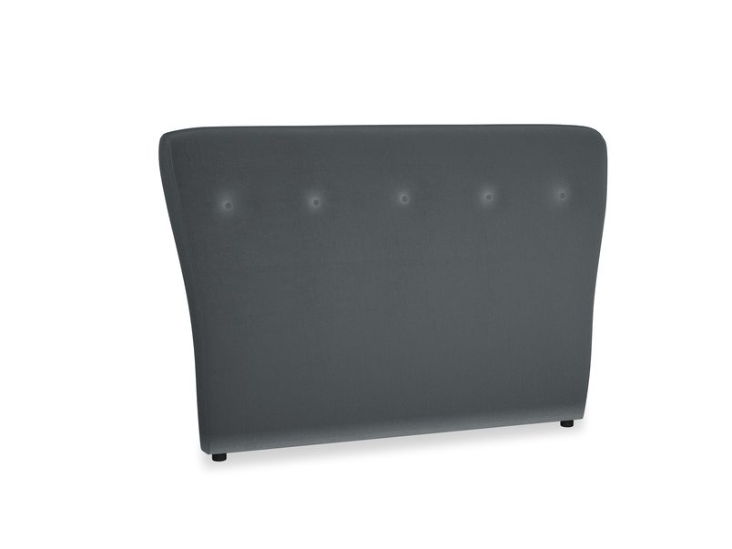 Double Smoke Headboard in Dark grey Clever Deep Velvet