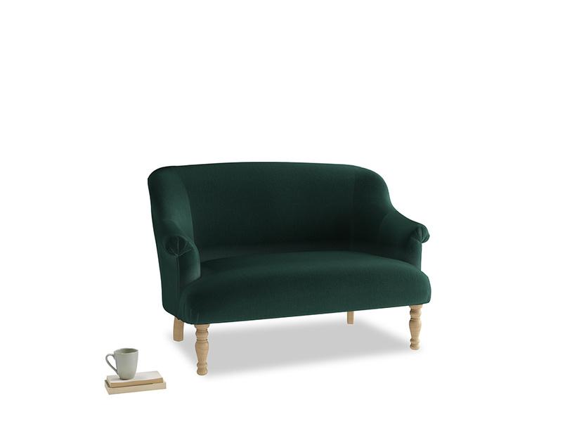 Small Sweetie Sofa in Dark green Clever Velvet