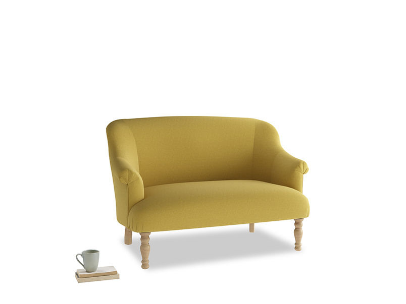 Small Sweetie Sofa in Maize yellow Brushed Cotton