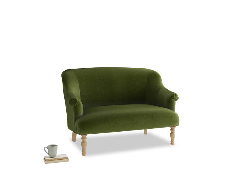 Small Sweetie Sofa in Good green Clever Deep Velvet