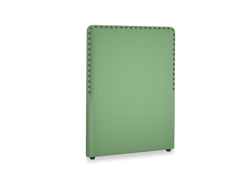 Single Smith Headboard in Clean green Brushed Cotton
