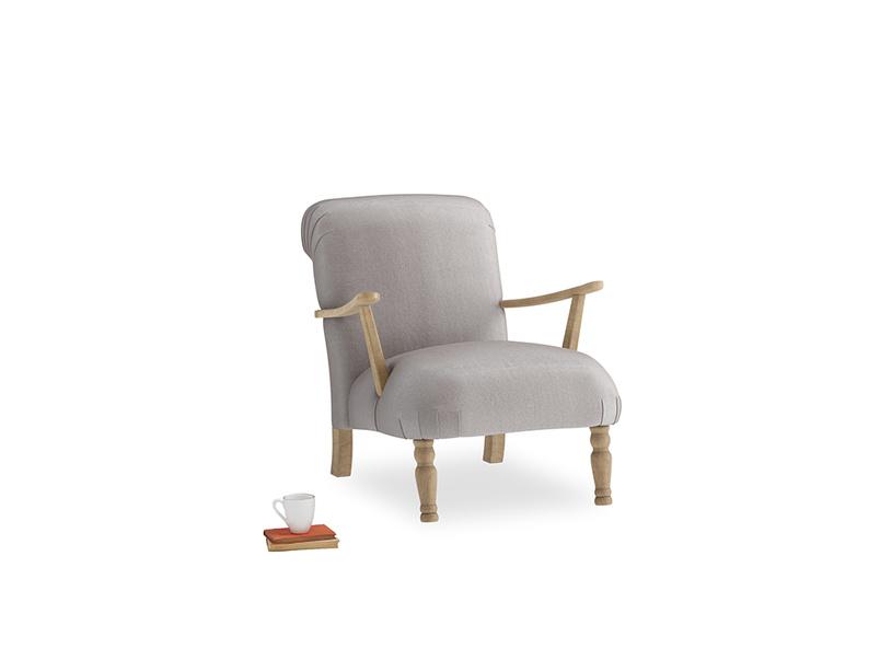 Brew Armchair in Soothing grey vintage velvet