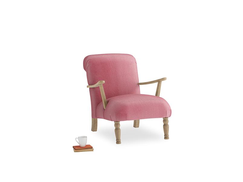 Brew Armchair in Blushed pink vintage velvet
