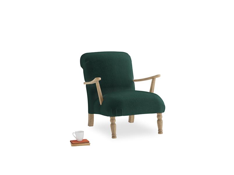 Brew Armchair in Dark green Clever Velvet