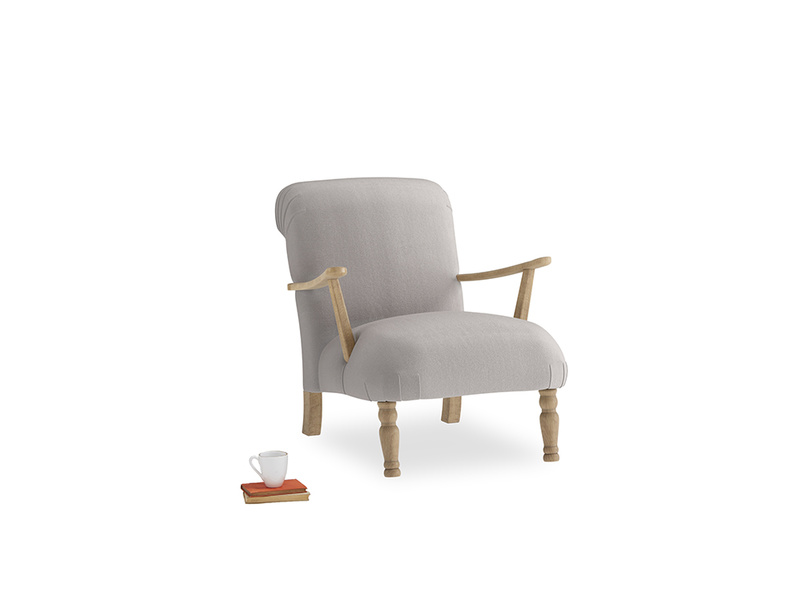 Brew Armchair in Mouse grey Clever Deep Velvet