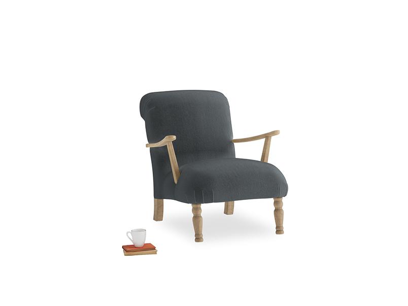 Brew Armchair in Dark grey Clever Deep Velvet