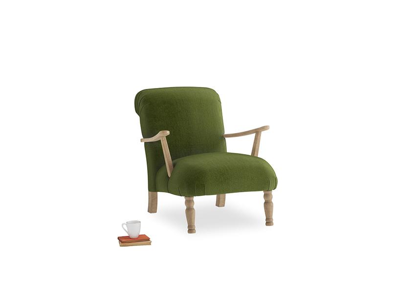 Brew Armchair in Good green Clever Deep Velvet
