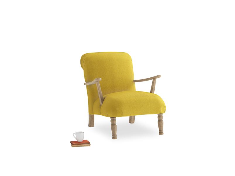 Brew Armchair in Bumblebee clever velvet