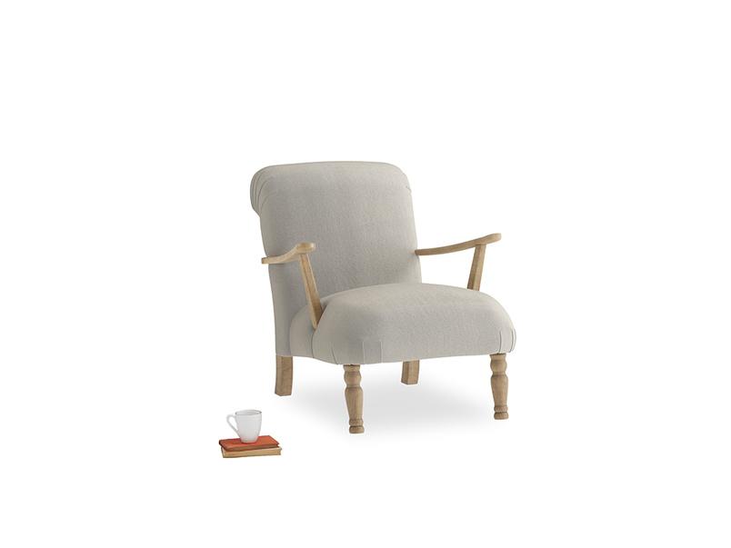 Brew Armchair in Smoky Grey clever velvet